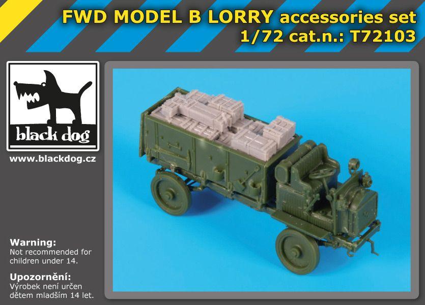 T72103 1/72 FWD MODEL B Lorry accessories set Blackdog