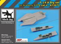 A72072 1/72 F-14 A big set