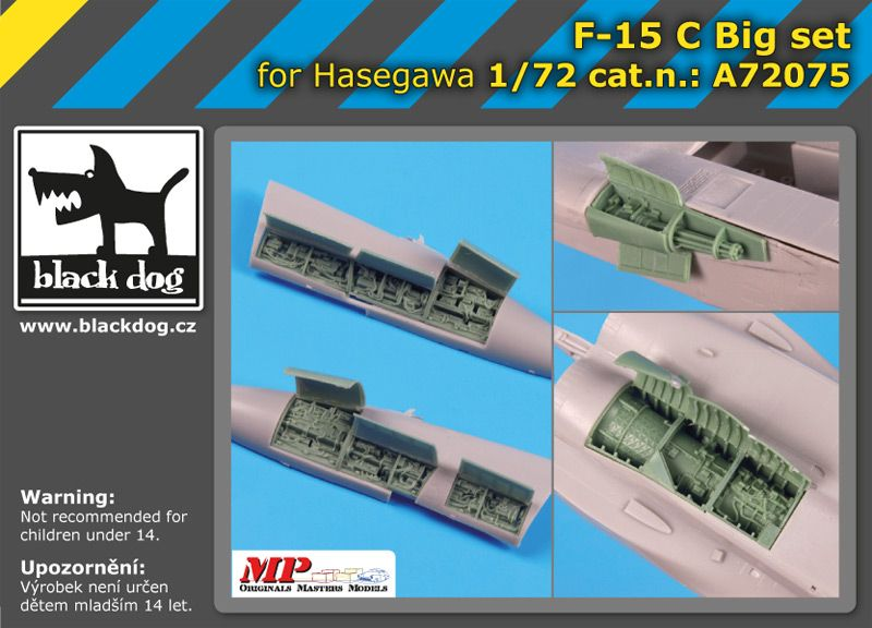 A72075 1/72 F-15 C big set Blackdog