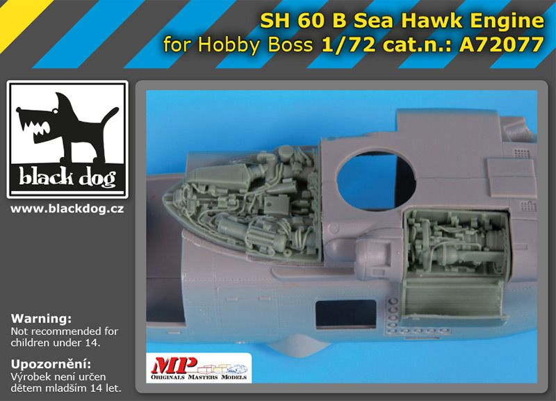 A72077 1/72 SH 60 B Sea Hawk engine Blackdog