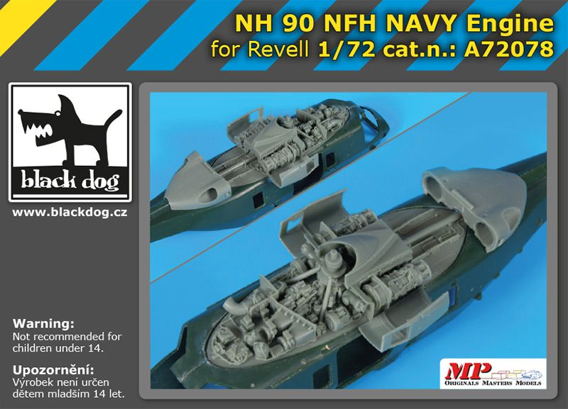 A72078 1/72 NH 90 NFH Navy engine Blackdog