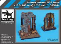D35104 1/35 House corner N°6 base