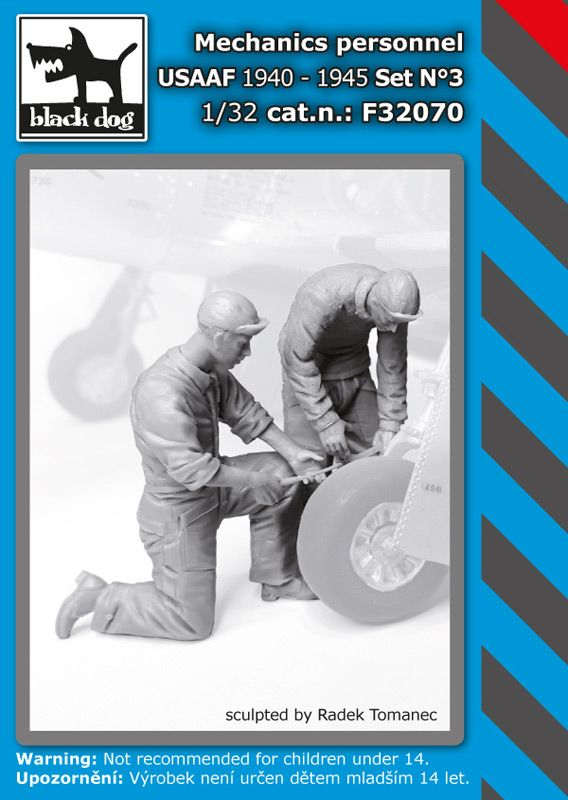 F32070 1/32 Mechanics personnel USAAF 1940-45 set N°3 Blackdog