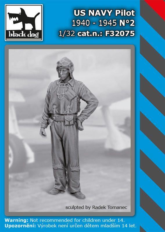 F32075 1/32 US NAVY pilot 1940-45 N°2 Blackdog