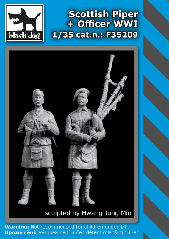 F35209 1/35 Scottish piper+officer WW I Blackdog
