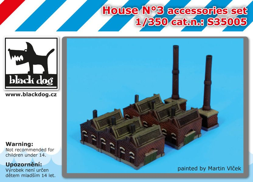 S35005 1/350 House N°3 Blackdog