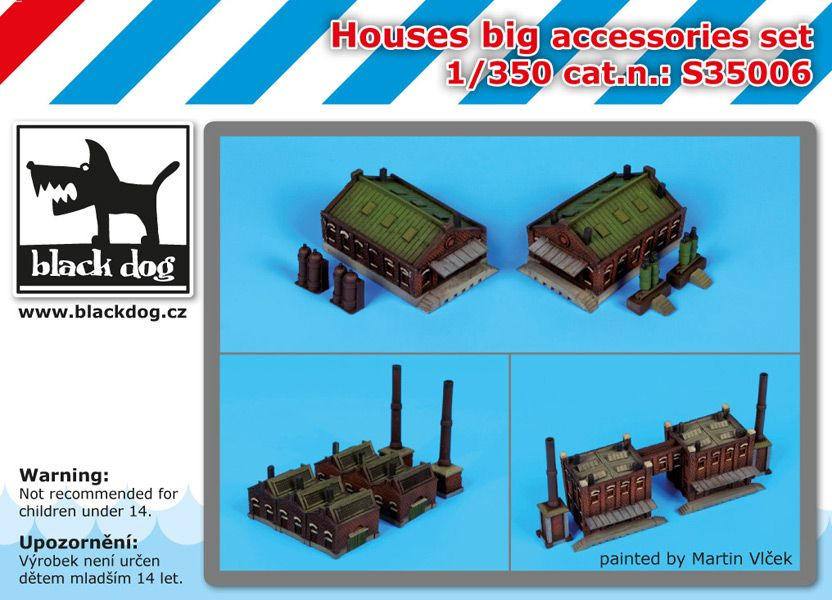 S35006 1/350 Houses big accessories set Blackdog