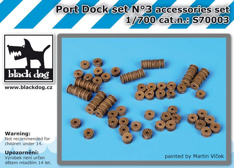 S700003 1/700 Port dock set N°3 Blackdog