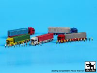 S70008 1/700 Trucks and trailers Blackdog