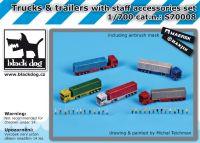 S70008 1/700 Trucks and trailers