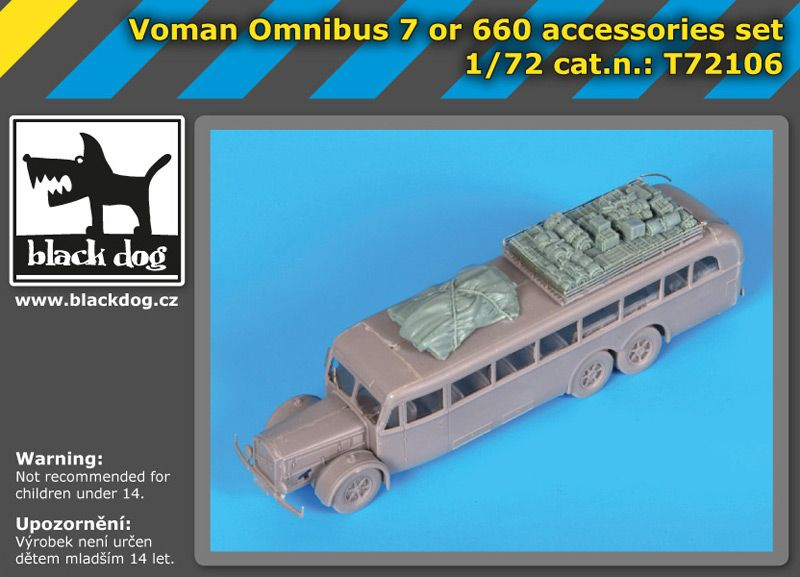 T72106 1/72 Voman Omnibus 7 or 660 accessories set Blackdog