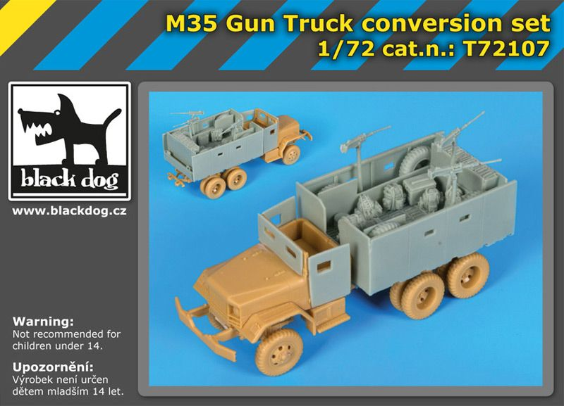 T72107 1/72 M 35 Gun truck conversion set Blackdog