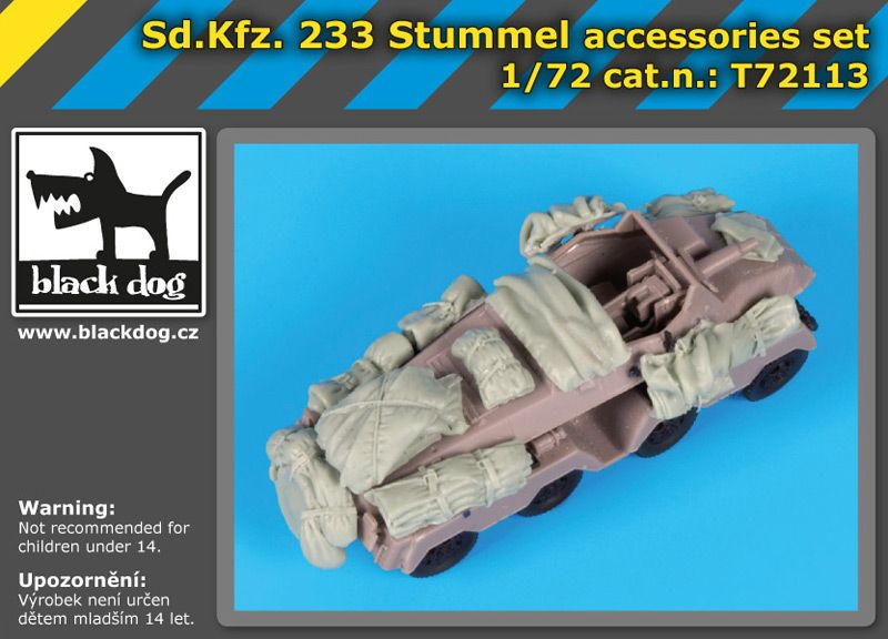 T72113 1/72 SD.Kfz 233 Stummel accessories set Blackdog