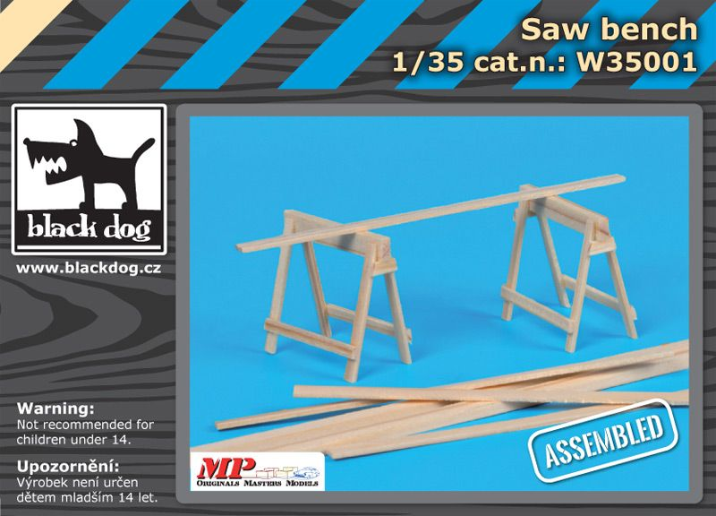 W35001 1/35 Saw bench Blackdog