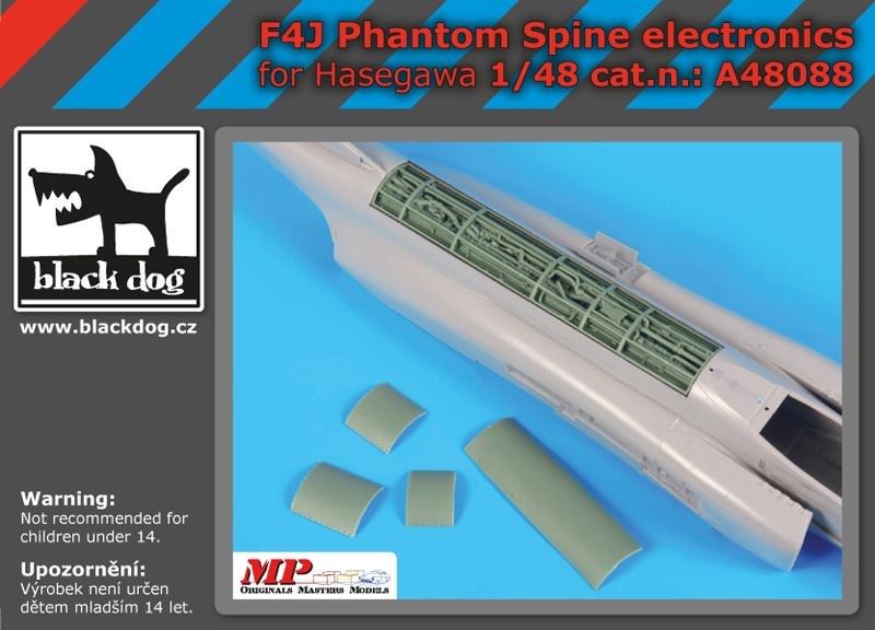 A48088 1/48 F4J Phantom spine electronics Blackdog
