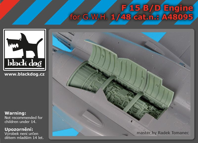 A48095 1/48 F-15 B/D engine Blackdog