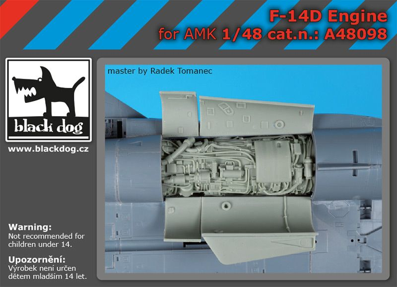 A48098 1/48 F-14 D engine Blackdog