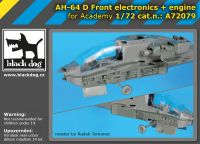 A72079 1/72 AH-64 D Front electronics + engine Blackdog