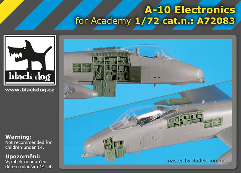 A72083 1/72 A-10 electronics Blackdog