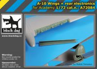 A72084 1/72 A-10 wings+rear electronics Blackdog