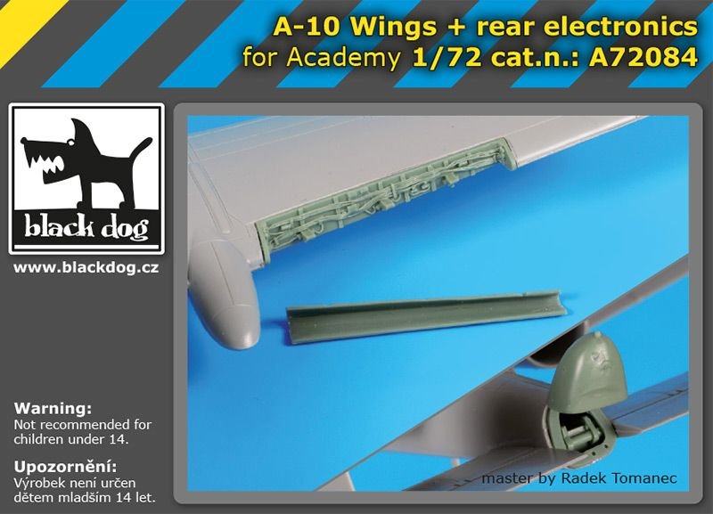 A72084 1/72 A-10 wings+rear electronics Blackdog
