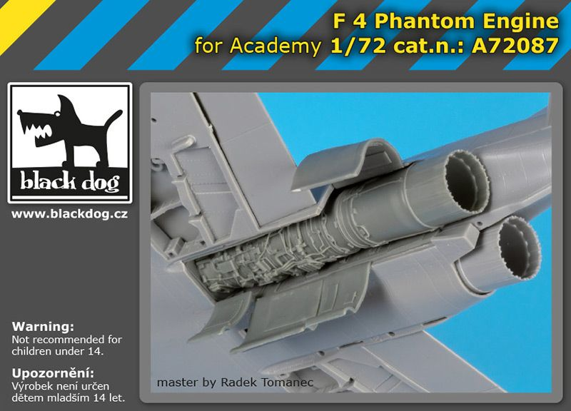 A72087 1/72 F-4 Phantom engine Blackdog