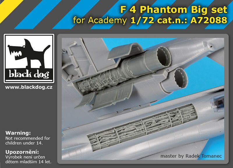A72088 1/72 F-4 Phantom big set Blackdog