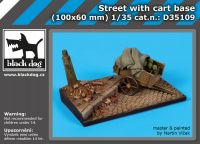 D35109 1/35 Street with cart base Blackdog