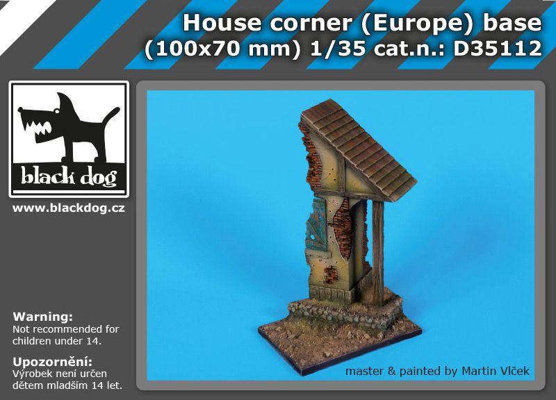 D35112 1/35 House corner (Europe) base Blackdog