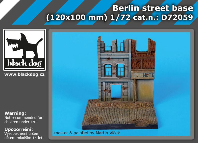 D72059 1/72 Berlin street base Blackdog
