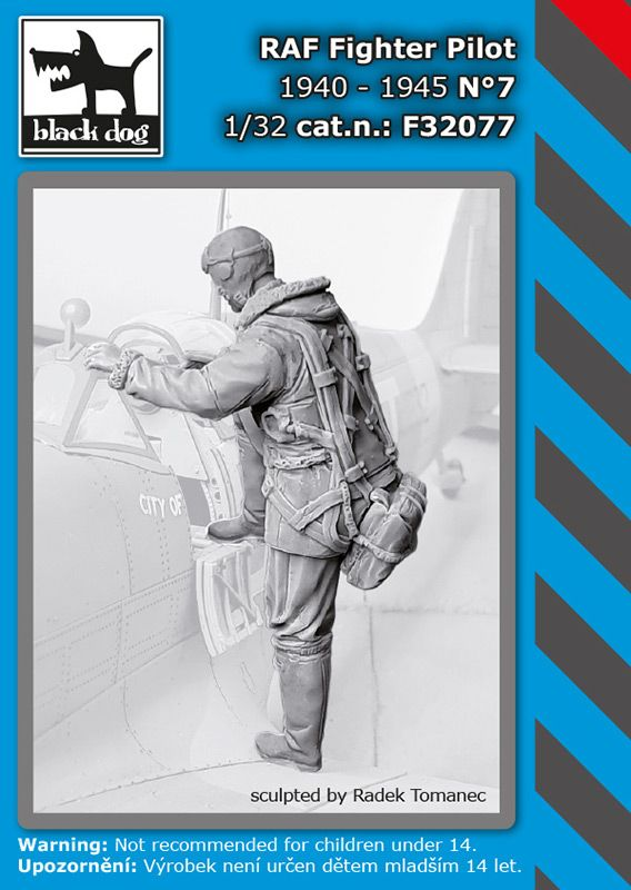 F32077 1/32 RAF fighter pilot 1940-45 N °7 Blackdog
