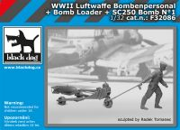 F32086 1/32 WW II Luftwaffe bombenpersonal + Bomb loader + SC250 bomb  N°1