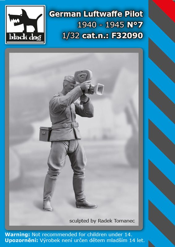 F32090 1/32 WW II German Luftwaffe pilot N°7 1940-45 Blackdog