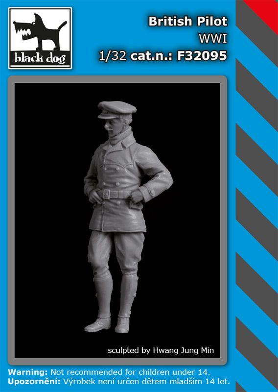 F32095 1/32 British pilot WW I Blackdog