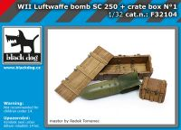 F32104 1/32 WW II Luftwaffe bomb SC 250 + crate box N°1