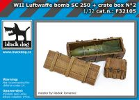F32105 1/32 WW II Luftwaffe bomb SC 250 + crate box N°2