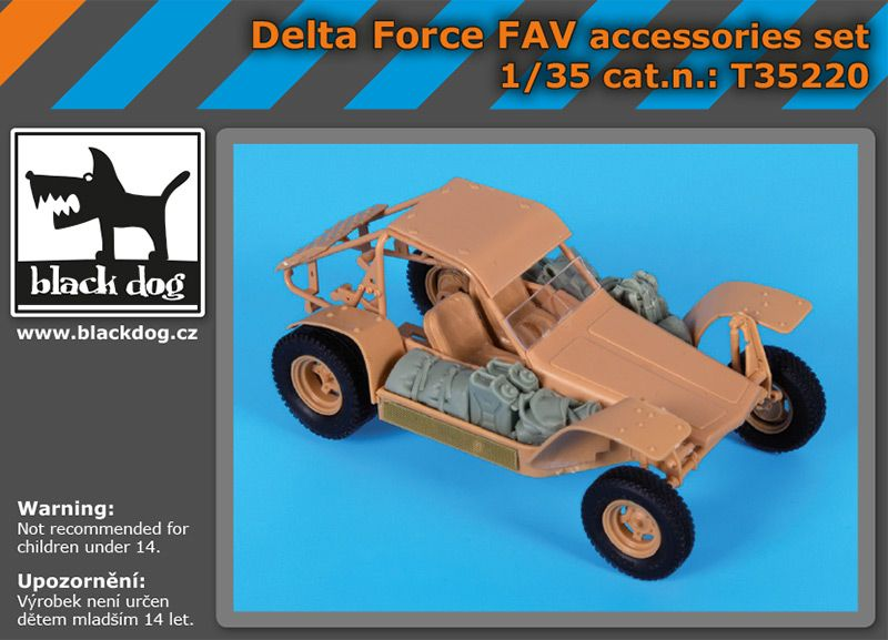 T35220 1/35 Delta Force FAV accessories set Blackdog