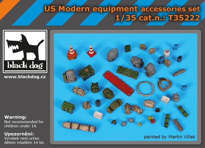 T35222 1/35 US Modern equipment accessoris set Blackdog