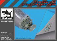 A48106 1/48 F-104 radar+tail