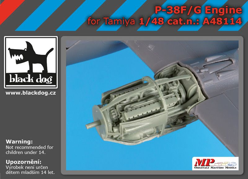A48114 1/48 P 38 F-G engine Blackdog