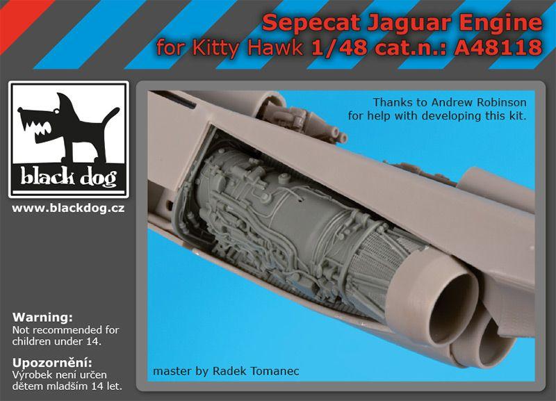 A48118 1/48 Sepecat Jaguar engine Blackdog