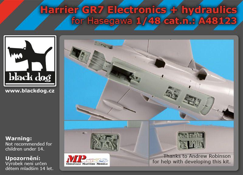 A48123 1/48 Harrier GR 7 electronics+hydraulics Blackdog
