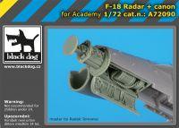 A72090 1/72 F-18 radar+canon