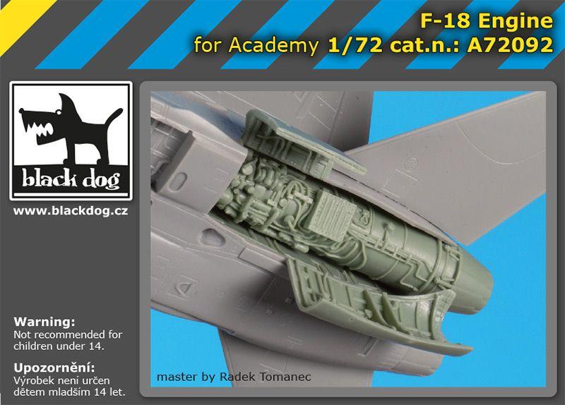 A72092 1/72 F-18 engine Blackdog