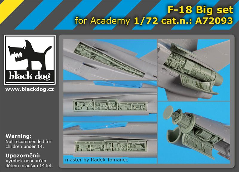 A72093 1/72 F-18 Big set Blackdog