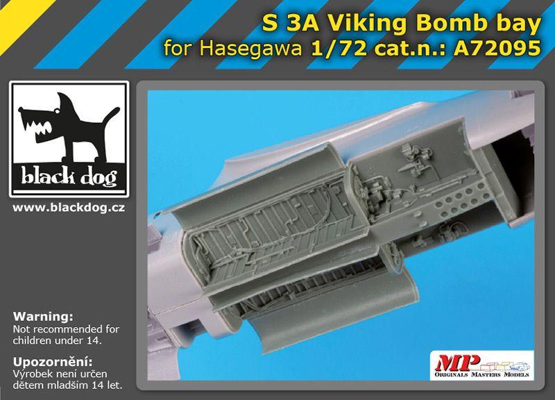 A72095 1/72 S 3 A Viking bomb bay Blackdog