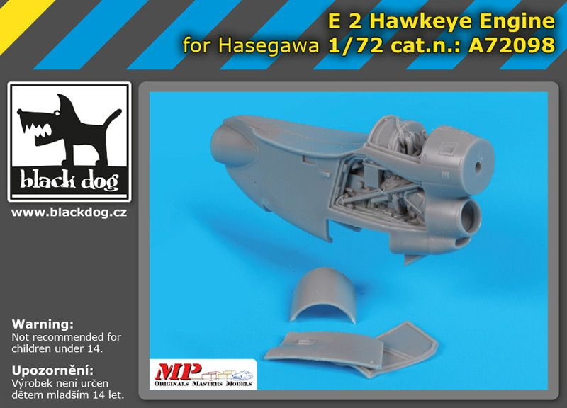 A72098 1/72 E-2 Hawkeye engine Blackdog