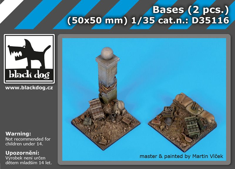 D35116 1/35 Bases (2 pcs.) Blackdog