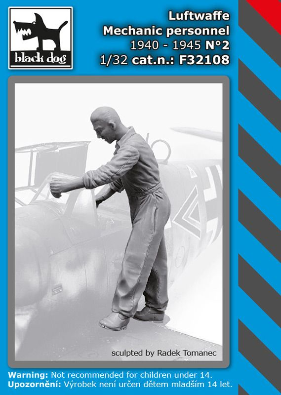 F32108 1/32 Luftwaffe mechanic personnel 1940-45 N°2 Blackdog