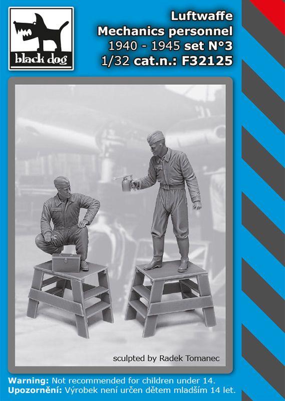 F32125 1/32 Luftwaffe mechanics personnel 1940-45 set N°3 Blackdog